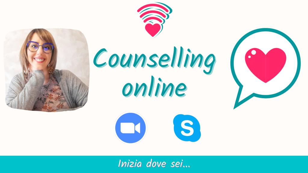 Counselling online, inizia dove sei. Sessione di counseling tramite skype o zoom; prenota chiamando il 329.2236261, il primo incontro è gratuito.